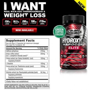Hydroxycut Hardcore Elite Int. - 100 kaps