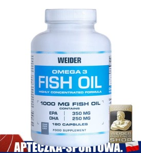 Omega 3 Fish Oil 180 kaps WEIDER